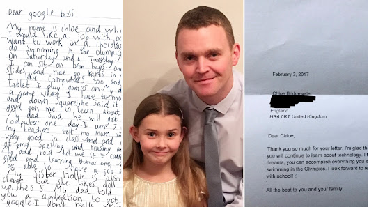 Girl, 7, writes letter to Google and gets response four days later - from CEO