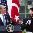 President Obama makes U.S. Marine break the rules, and he does not look happy about it!!