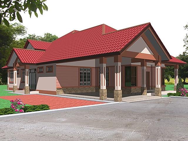 bagus Desain Rumah Luas Tanah 100m2