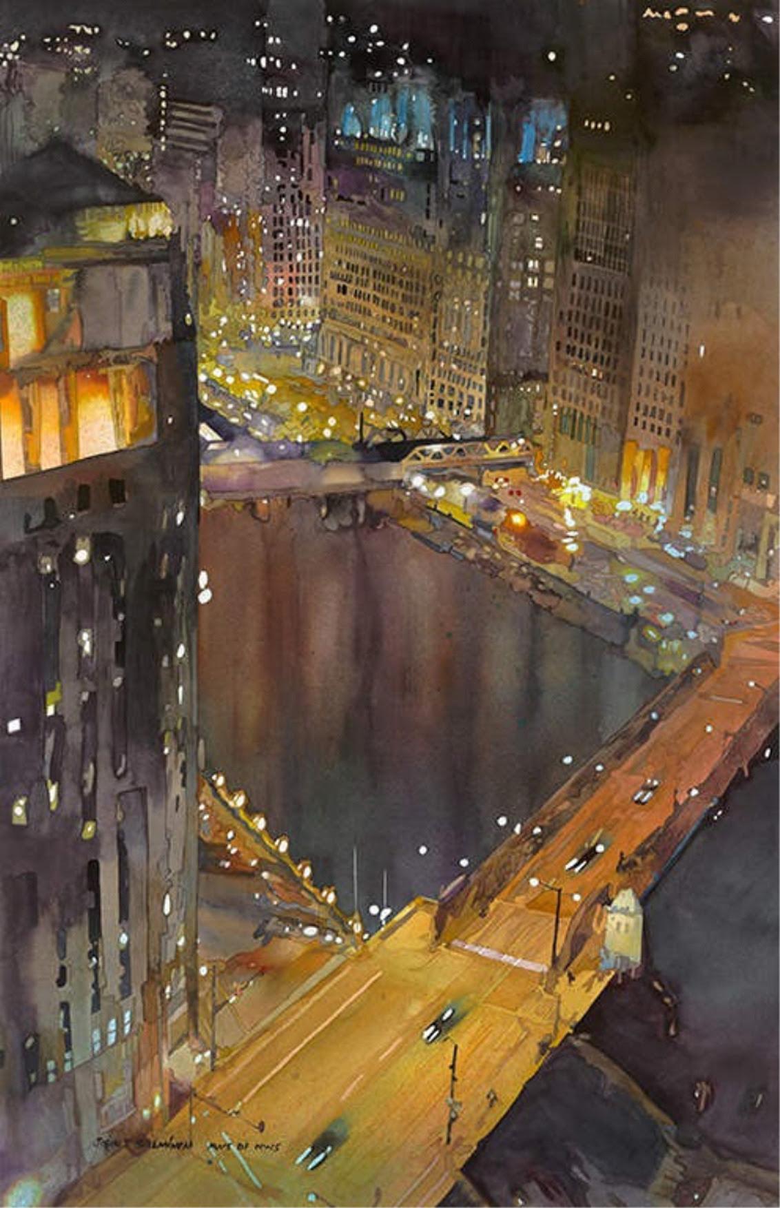 Chicago River by John Salminen
