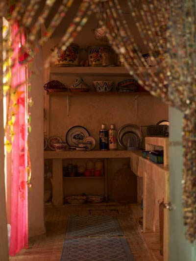 Hehe - love beads in my kitchen? don't mind if I do!  bohemian kitchen
