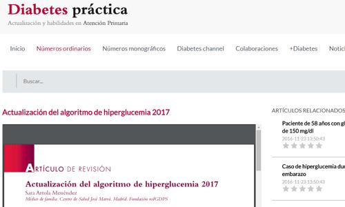 Actualización del algoritmo de manejo de la hiperglucemia