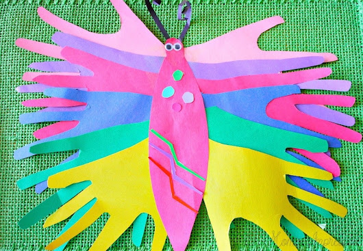 Make a Paper Handprint Butterfly Craft Keepsake with your Child
