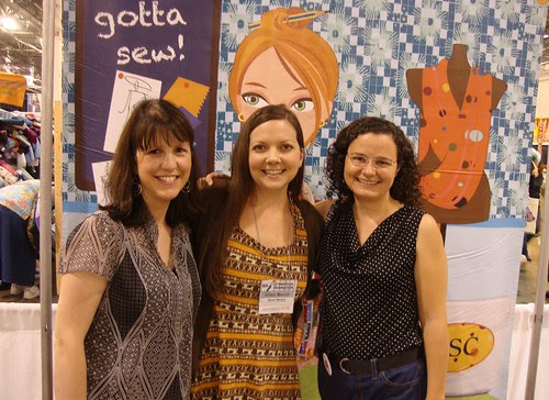 Saturday: Anna Christina and Ellen March (Sew It All tv) and me