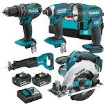 Makita Cordless 5-Piece Combo Power Tool Kit