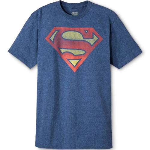 DC Comics Men's Superman Shield T-Shirt - Blue S, Size: Small