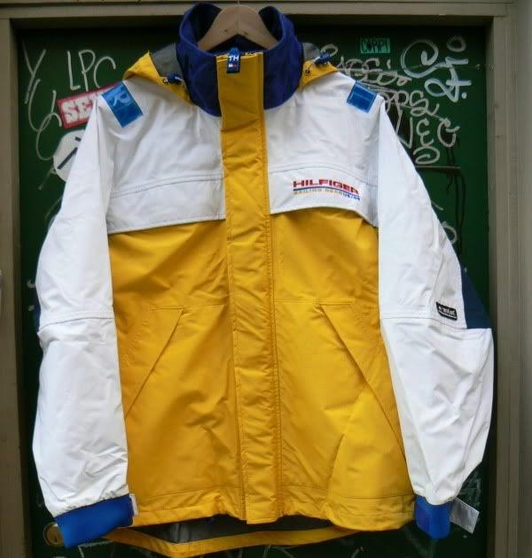 Zone7style Vintage Tommy Hilfiger Sailing Gear Kevlar Jacket