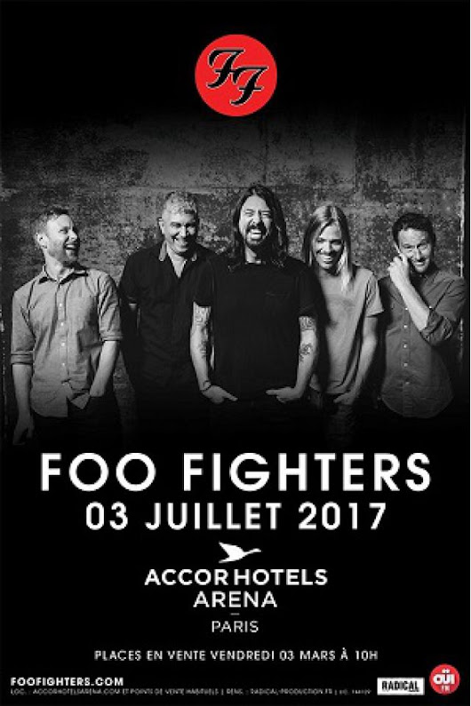 Concert FOO FIGHTERS à PARIS 12 @ ACCORHOTELS ARENA - Billets & Places