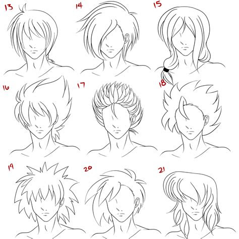top image  anime hairstyles male chester gervais