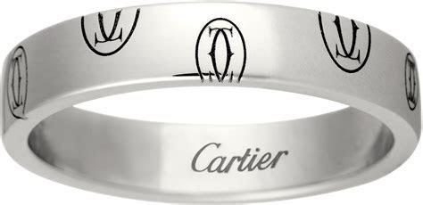 CRB4050900   Logo de Cartier wedding band   White gold