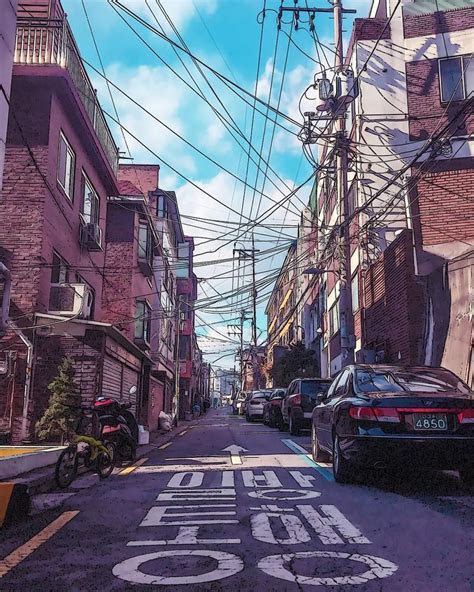 seoul south korean anime aesthetic  noealz photo