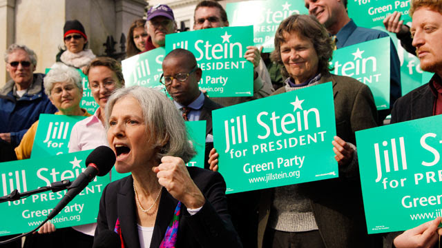 Jill Stein at rally