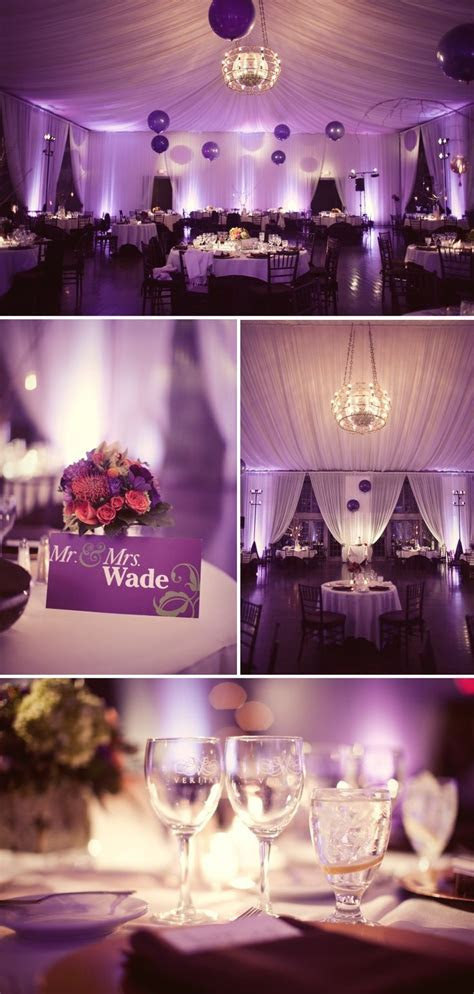 Purple wedding reception  pinned by wedding specialists