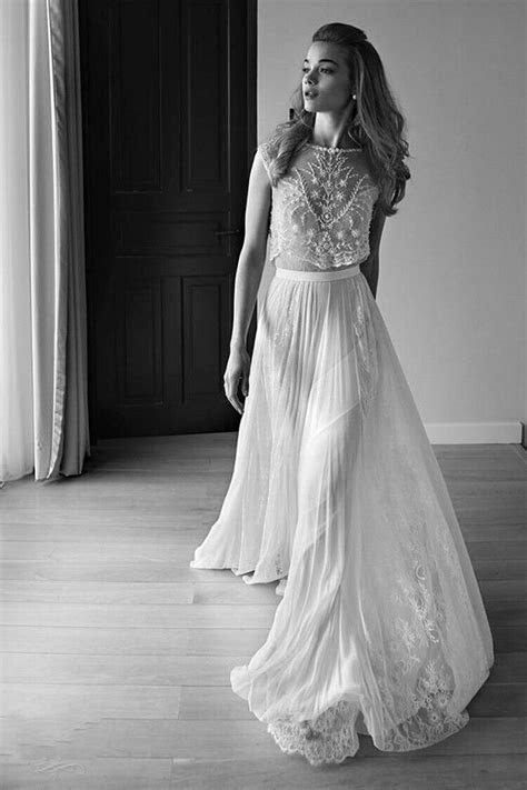 2016 Lace Vintage Beach Wedding Dresses Bohemian Boho Cap