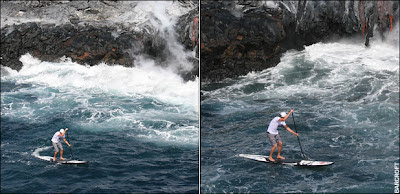 Surfeando entre la lava