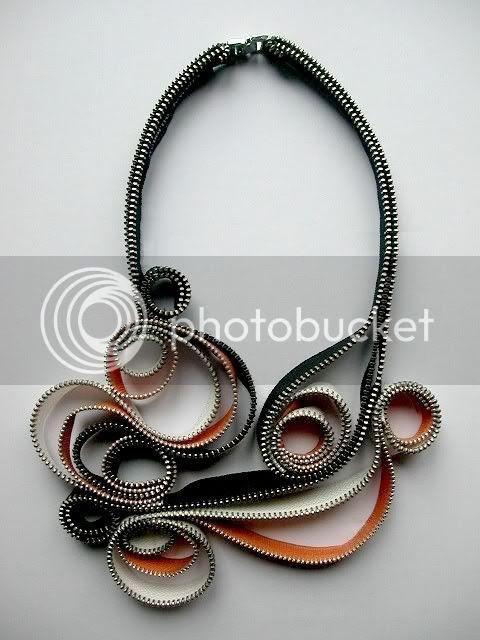 Intense Whirl Zipper Necklace