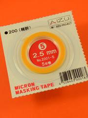 Mascaras  Aizu Project - Cinta de enmascarar de 2,5mm x 5m