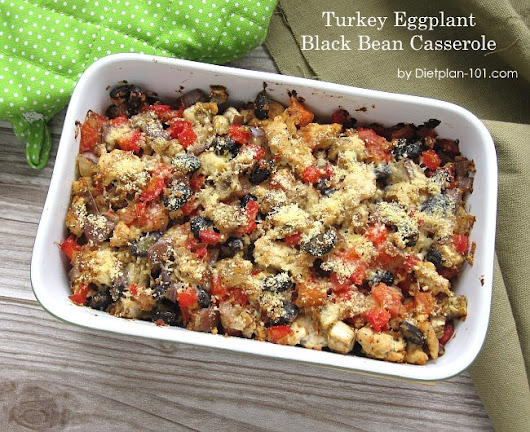 Turkey Eggplant Black Bean Casserole (The Zone Diet Recipe)
