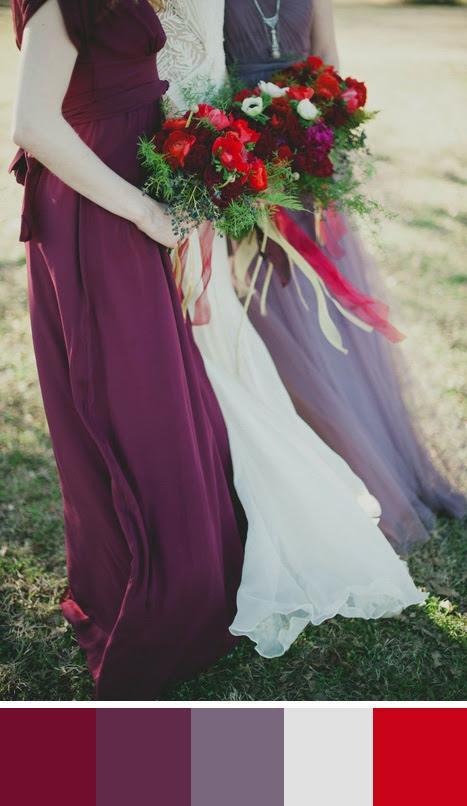 5 Burgundy Wedding Color Palettes