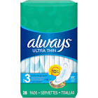 Always Pads, Ulta Thin, Size 3, Extra Long Super - 28 pads