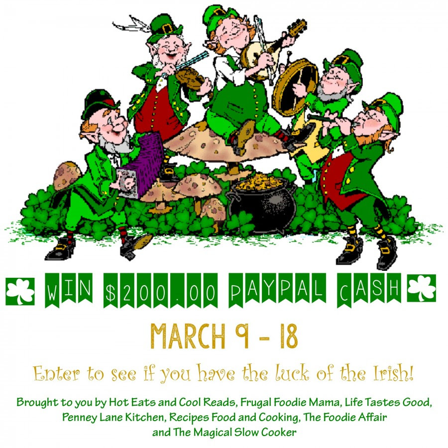 Get entered to win $200 in PayPal cash in the Luck 'O The Irish Giveaway! Ends 3/18/15
