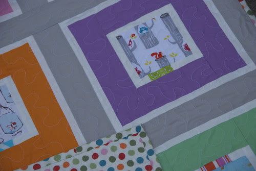 Colored Planet Baby quilt