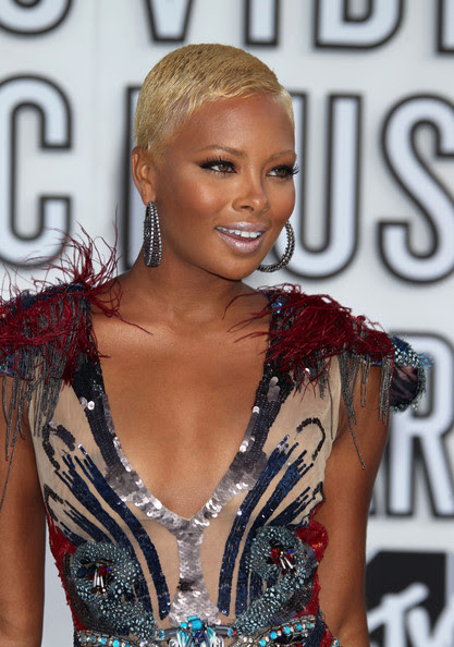 Eva Marcille  Celebrities arrive at the 2010 MTV Video Music Awards at the Nokia  Theatre in L.A. Live in Los Angeles.