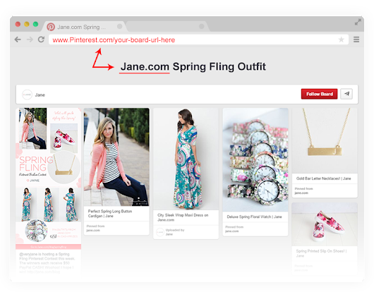 Spring Fling Fashion - Pinterest Contest