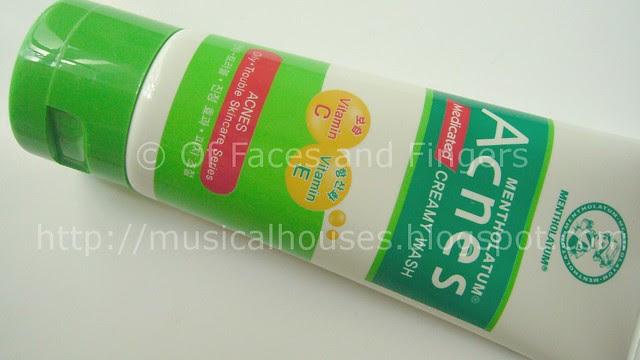 mentholatum acnes creamy wash tube