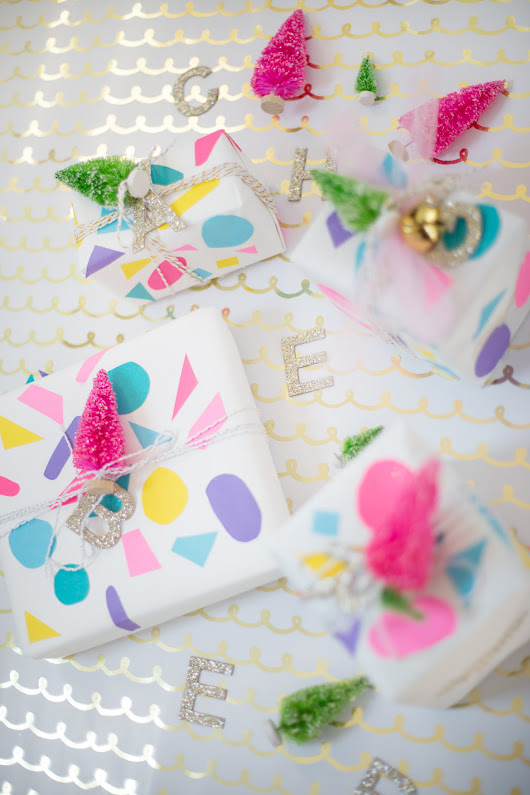 cheerful christmas wrapping with astrobrights - Lay Baby Lay