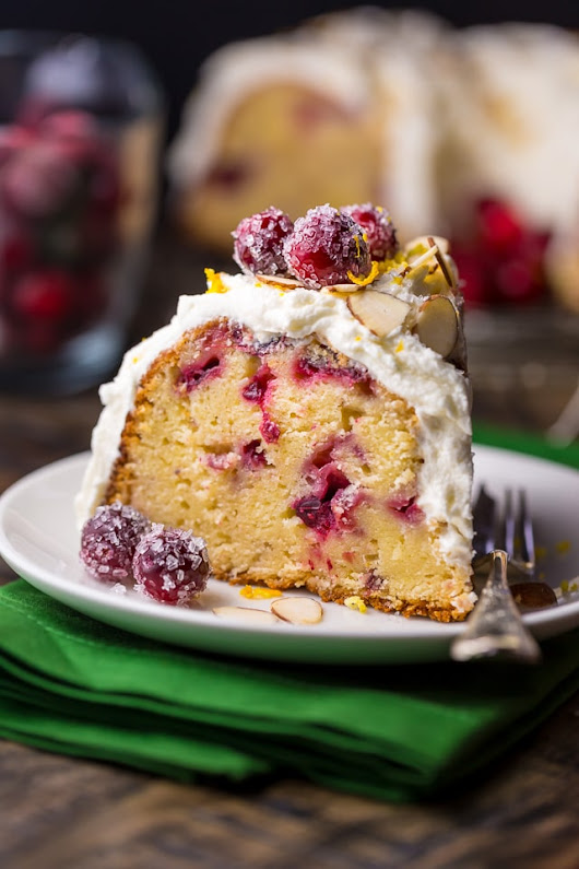 White Chocolate Cranberry Bundt Cake - Baker by Nature