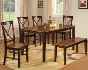 BRAND NEW KITCHEN DINING ROOM TABLE CHAIRS BENCH SEATS 6 TWO ...
