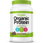 Orgain Organic Protein Plant Based Powder, Creamy Chocolate Fudge - 2.03 lb jar