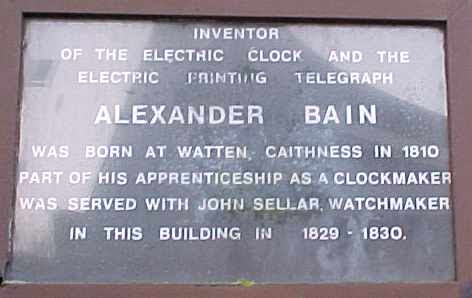 Monumen Penghormatan Alexander Bain Penemu Mesin Fax