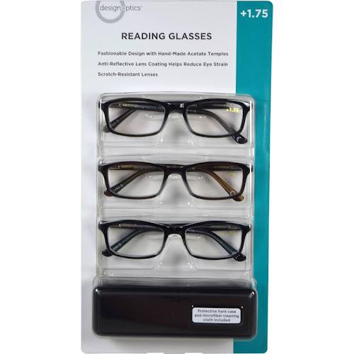 ef880e9a805 Design Optics Reading Glasses 3 Pack Assortment