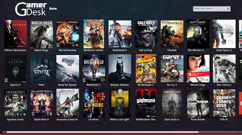 gamer desk beta pc games launcher app  windows