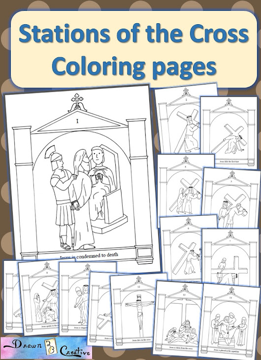 Stations of the Cross Coloring Pages - Drawn2BCreative