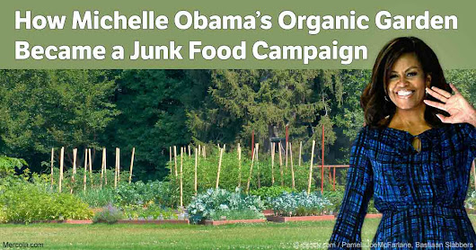 How First Lady's Organic Garden Became a Junk Food Campaign
