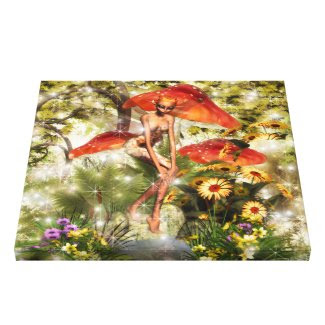 Orlina The Sprite Stretched Canvas Prints