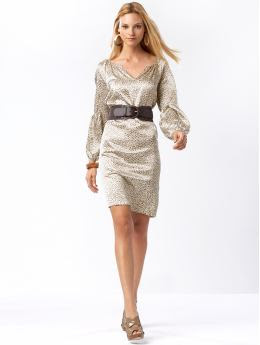 Women: Heritage eco-blend leopard dress - Bronzer