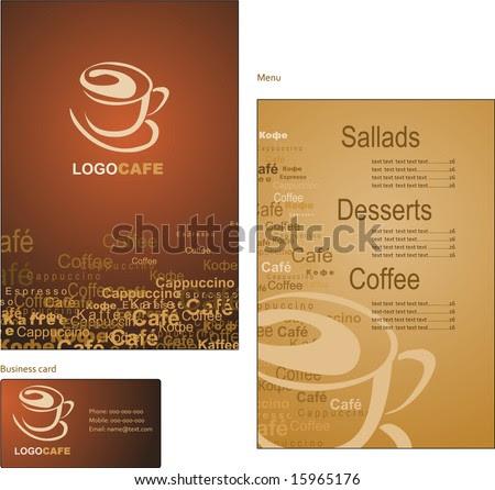 to go menu template free - template coffee shop menu stock vector