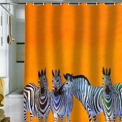 Karin Maki Zebra Shower Curtain | Wayfair