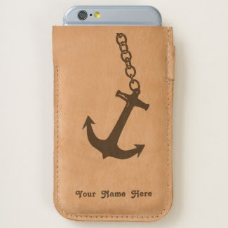 Nautical Anchor on Chain Personalized