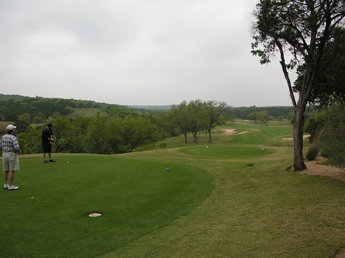 a typical par 4 - way out and troubles all along the way