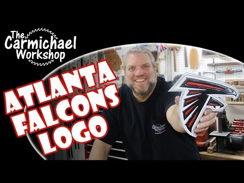 Making a Wooden Atlanta Falcons Logo