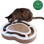 FurHaven Pet Cat Scratcher   Corrugated Cat Scratcher Busy Box With Catnip (Heart Busy Box)