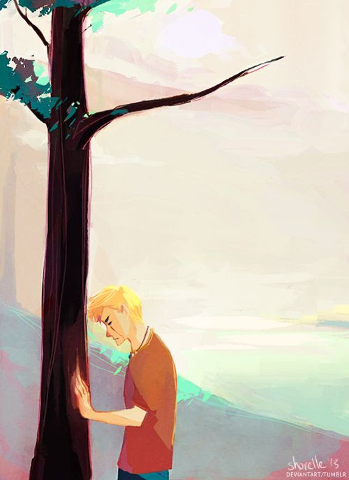 Luke Castellan at Thalia's tree. Do you hear that sound? Yeah that's my heart shattering into a thousand tiny pieces.