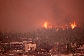 Пожар в Йеллоустоунском заповеднике