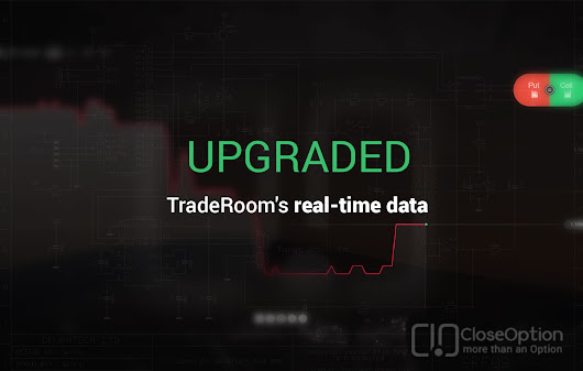 TradeRoom's real-time data upgraded • CloseOption Official Blog