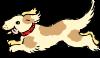 Happy Running Dog Clip Art
